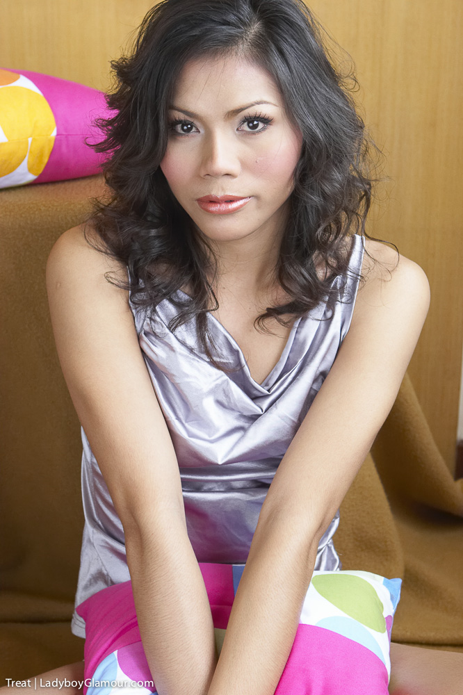 Soft silk on the beautiful body of an exotic ladyboy